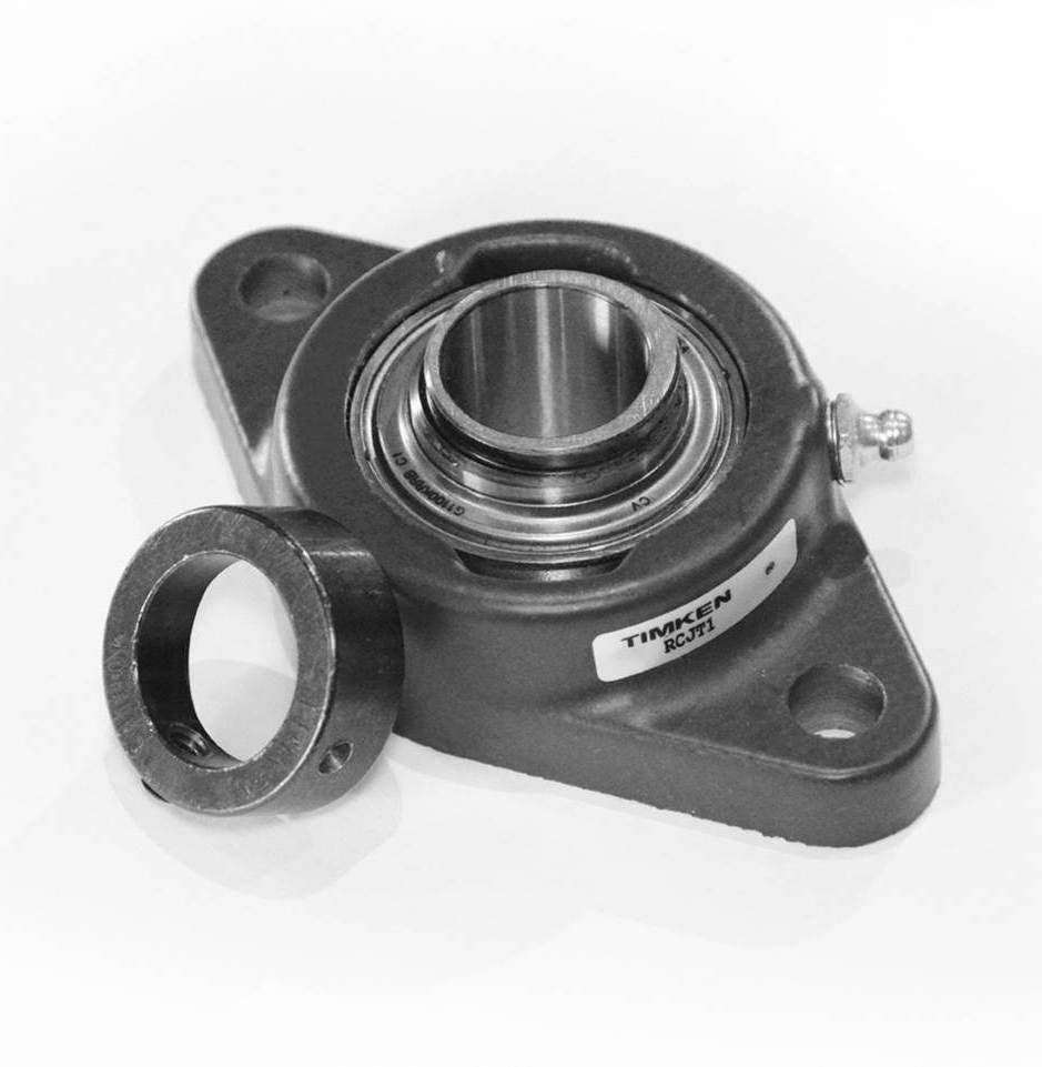 Bearing With Locking Collar : Timken part number lcjt fafnir two bolt flanged