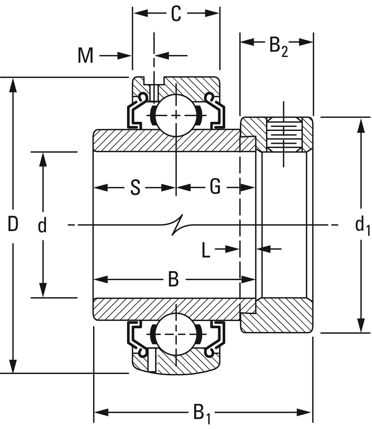 Timken Part Number G1108kllb Fafnir 174 Eccentric Locking