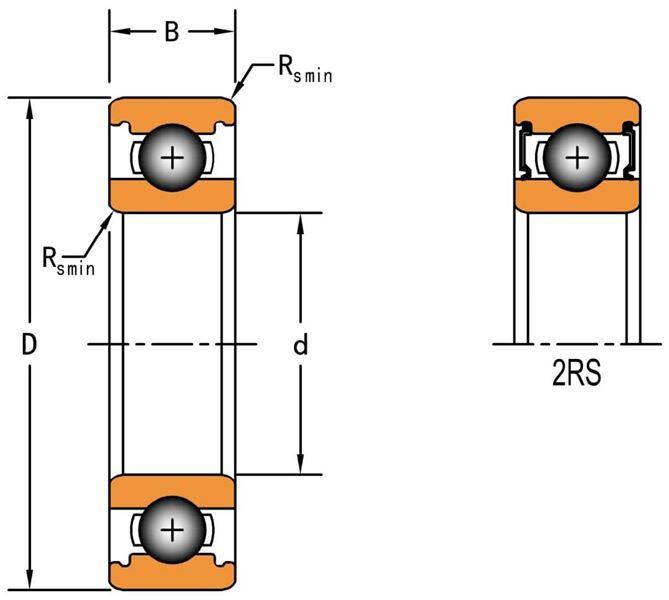63001-2RS DUNLOP METRIC BALL BEARING
