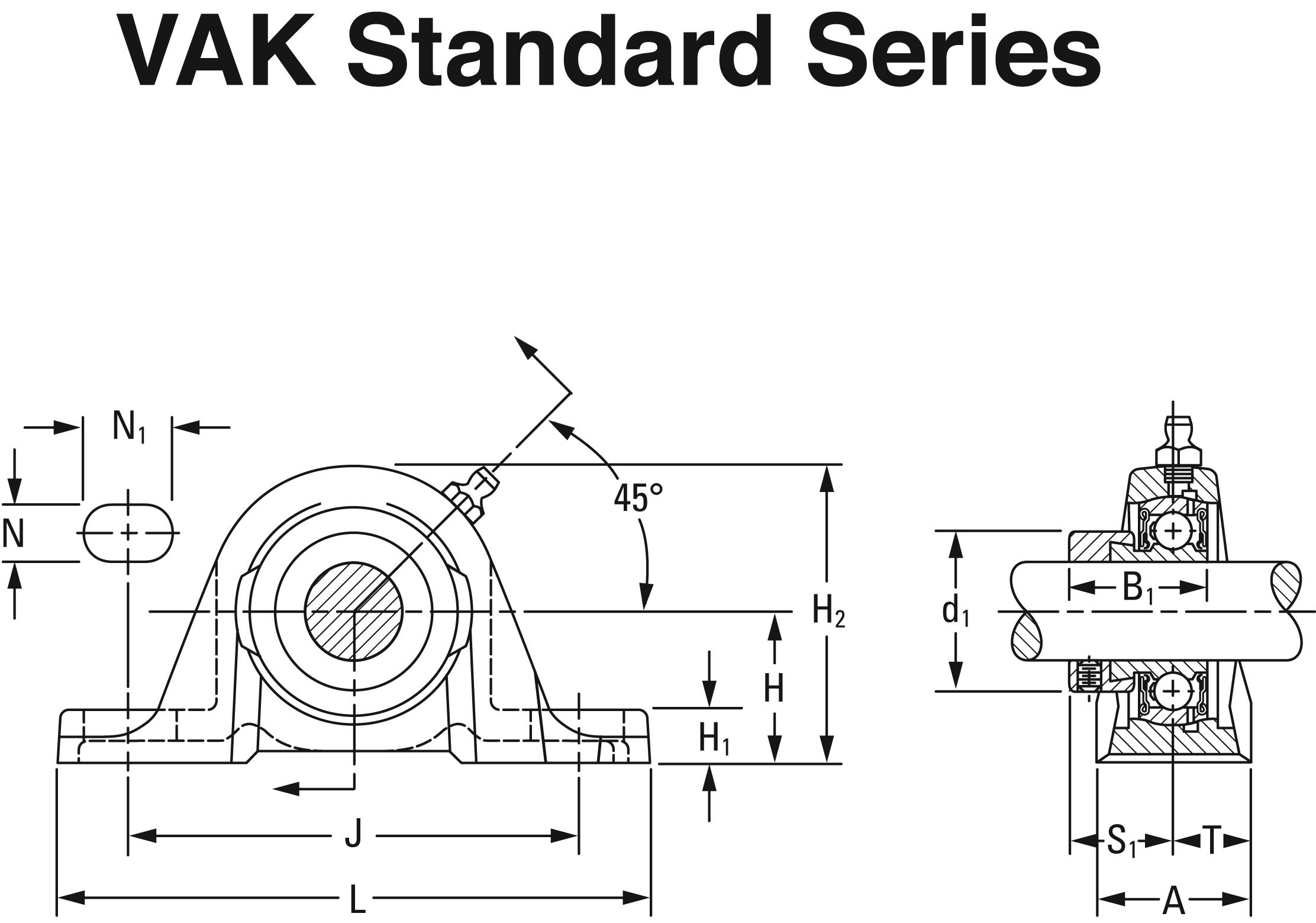 Part Number Vak 1 1 2 Fafnir Pillow Block Units Eccentric Locking Collar On The Timken Company