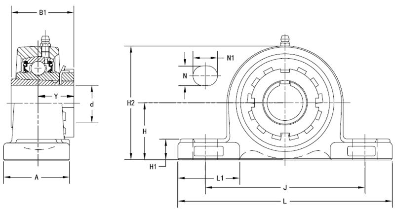 Drawing Lines In Autocad Using Bearings : Bearing unit adapter sleeve ukp he