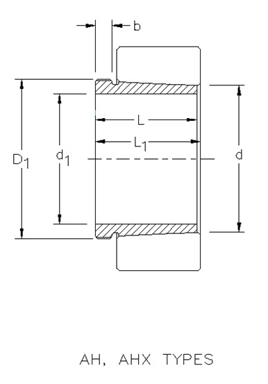 Drawing Lines In Autocad Using Bearings : Metric ah withdrawal sleeve on the timken company