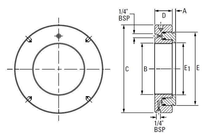Drawing Lines In Autocad Using Bearings : Metric hmv hydraulic nut on the timken company