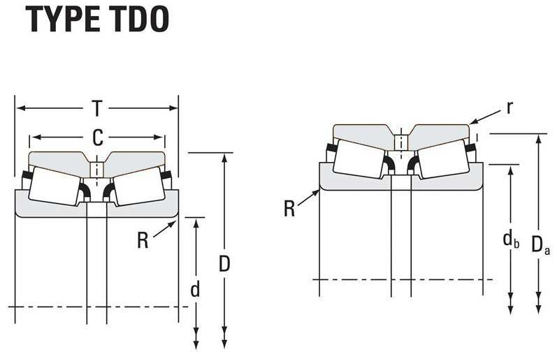Drawing Lines In Autocad Using Bearings : Tapered roller bearings tdo double outer