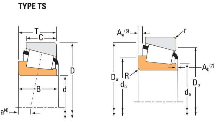 Drawing Lines In Autocad Using Bearings : Timken part number cm tapered roller bearings