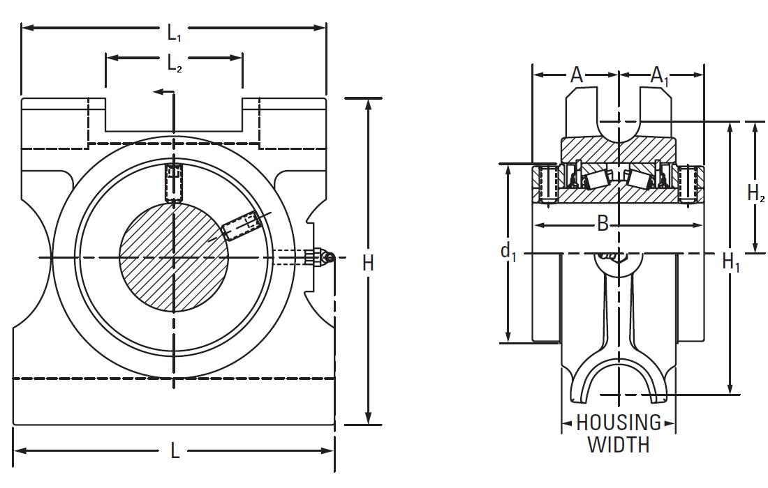 Drawing Lines In Autocad Using Bearings : Type e take up top angle bearing ttu on the timken