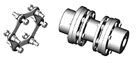 DI-6 Type Drop-In Center Industrial Coupling Hubs - Metric