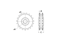 RunRight® Inch Double Sprocket Drawing