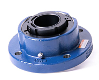 Timken-Mounted-Bearing-Housed-Unit-Double-V-Lock-Round-Flange-Block