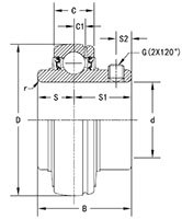 Housed-Unit-U-Series-UC-Line-Drawing
