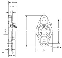 Housed-Unit-U-Series-UCFL-Line-Drawing
