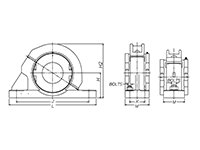 SAFQ Pillow Block - Line Drawing