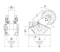 RunRight® RT M 50 Belt Drive Tensioner Drawing