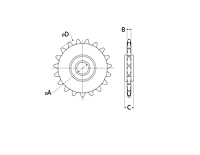 RunRight® Inch Sprocket Drawing