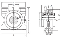 Timken-Mounted-Bearing-Housed-Unit-Takeup-TypeE-Line-Drawing