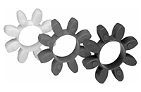 Curved Jaw Coupling Spiders, CJ Series - Metric