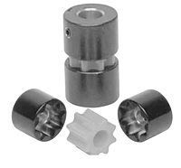 MSF Series - Mini Soft Set Screw Style Coupling Hubs w/o Keyway - Metric