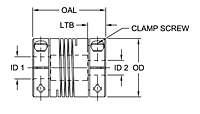 ASB Series - Aluminum Single Beam Clamp Style Couplings - Metric-2