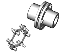 SU-6 Type Industrial Coupling Hubs w/ Keyway - Metric