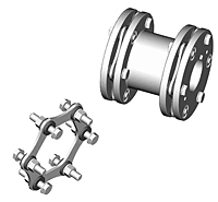SXC-6 Type Closed Coupled Industrial Coupling Hubs w/ Keyway - Metric