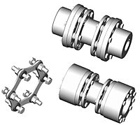 DI-6 Type Drop-In Center Industrial Coupling - Metric