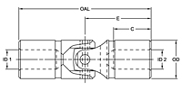 Needle Bearing Type Universal Solid Joints - Imperial-2