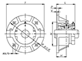 Flange Units - Line Drawing