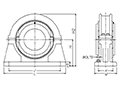 Heavy Series Standard Pillow Block - Line Drawing
