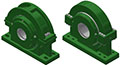 Split Block - Cylindrical Roller Bearing - S 4 and 8-BOLT (HEAVY)