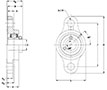 Stainless-steel-2-Bolt-Flange--SUCSFL--Line-Drawing---FVSL613