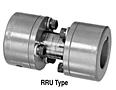 RRU Type Uniflex Coupling Hubs w/ Keyway, Drop-Out Style - Imperial