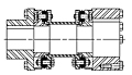 DI Type Drop-In Center Industrial Coupling Jumbo Hub Bolt Kits - Sectional View
