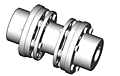 DI-6 Type Drop-In Center Industrial Coupling Standard Hub Bolt Kits - Metric
