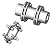 SX-6 Type Industrial Coupling Hubs - Metric