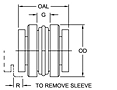 Dimensional Drawing - S-Flex B Type Coupling